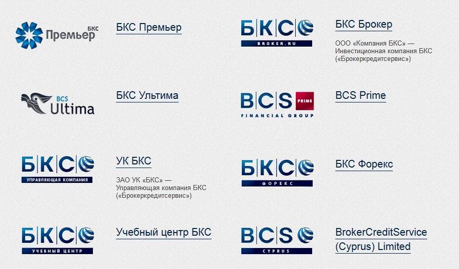 структура финансовой группы БКС