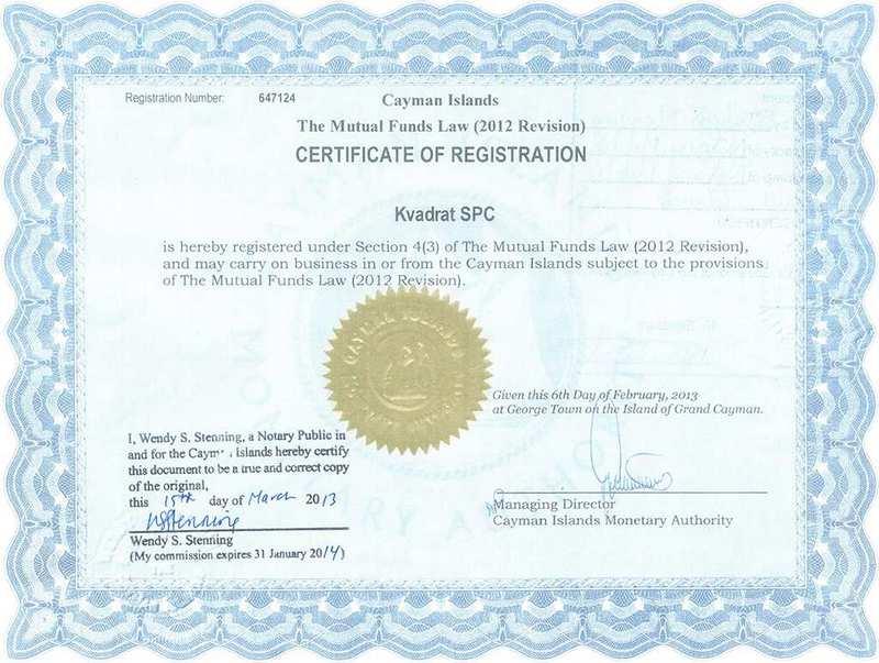 лицензия Kvadrat SPC