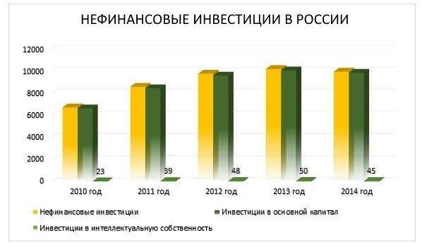 нефинансовые инвестиции в России