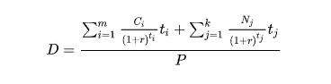 формула дюрации