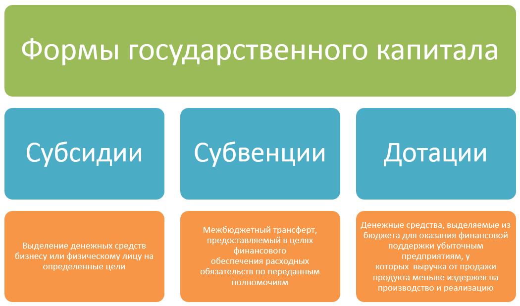 формы государственного капитала