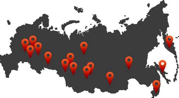 филиалы РФ
